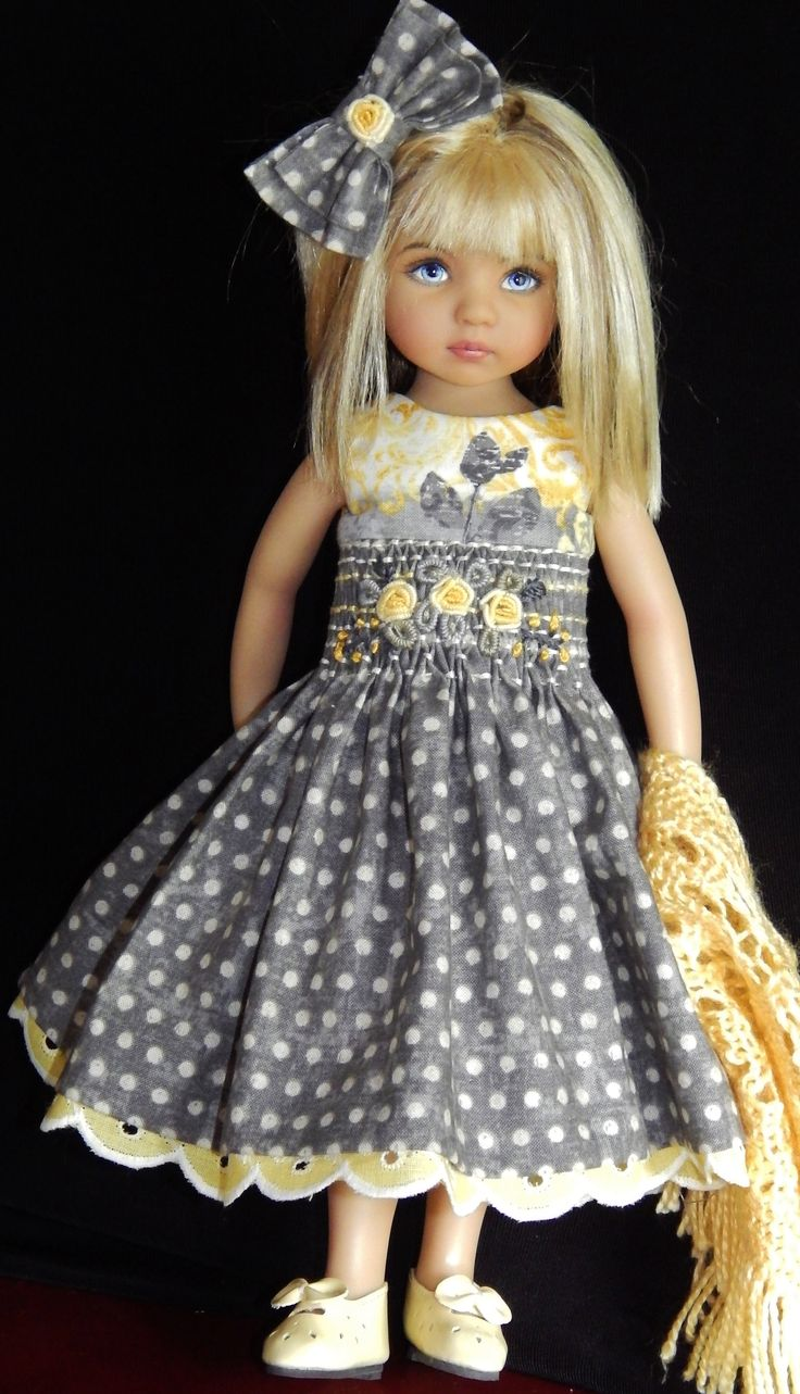 Effner Little Darling Dolls Handmade Outfits.(Ebay seller kalyinny) Yellow n grey combo ... Cute: