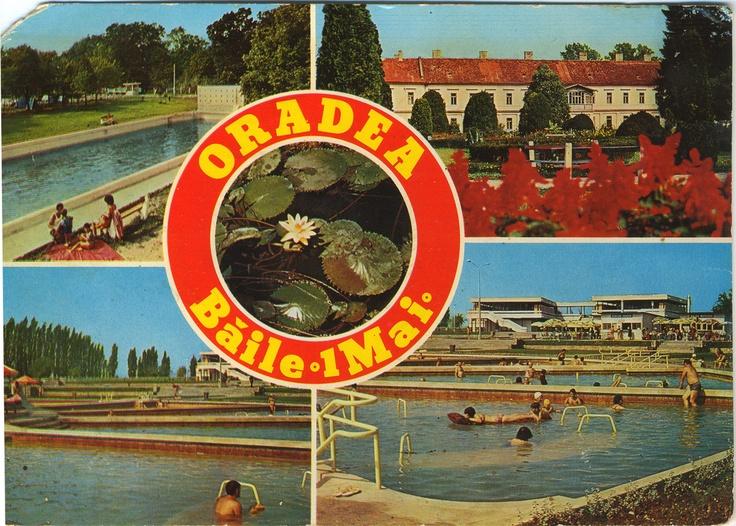 postacard, Băile 1 Mai in the 1970s