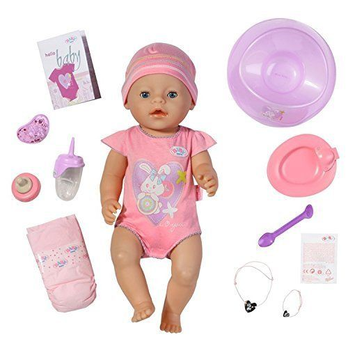BABY Born Interactive Doll - Girl by Baby Born   Your Baby Born Doll requires no batteries and also comes with 10 accessories;Feed her, hug her Read  more http://shopkids.ca/baby-born-interactive-doll-girl-by-baby-born/