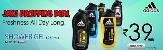 #Shopclues Jaw Dropping Deal: #Adidas Shower Gel 250ml at Rs.58 (of Rs.150)