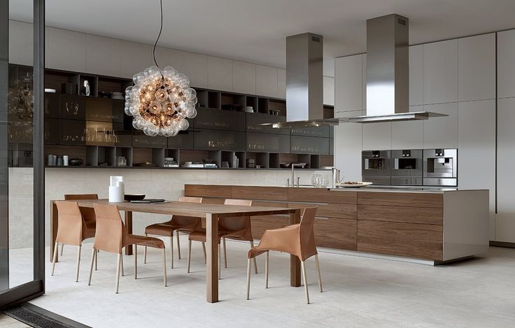 Poliform Phoenix kitchen inspired by pure and essential lines to achieve a rigorous design project.