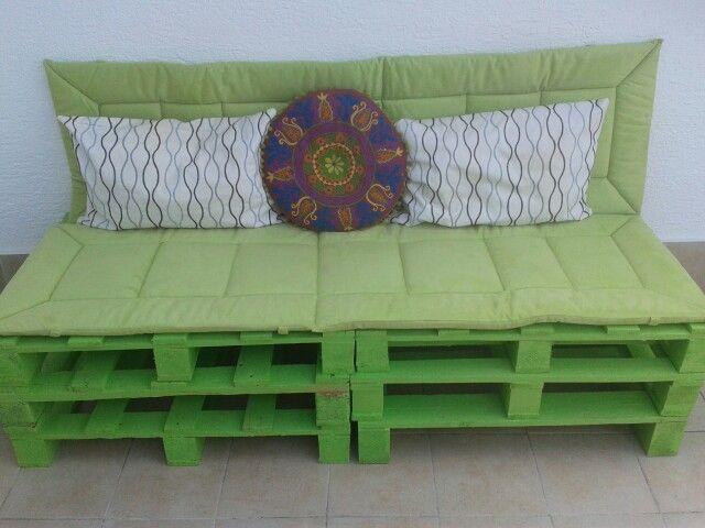 bank aus paletten pallets pinterest. Black Bedroom Furniture Sets. Home Design Ideas