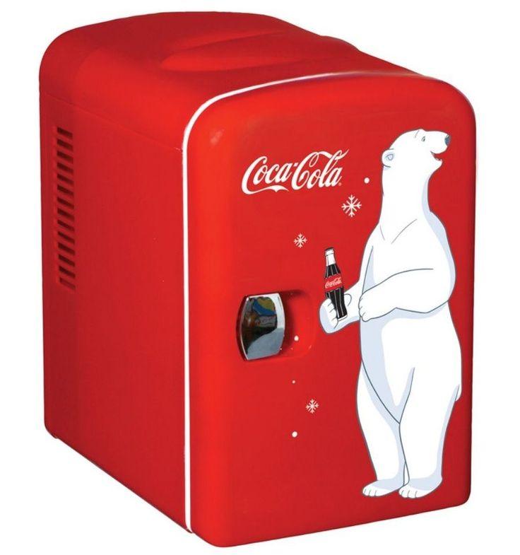 Coca Cola Mini Refrigerator Can Fridge Compact Red Countertop Coke Soda Retro #Unbranded
