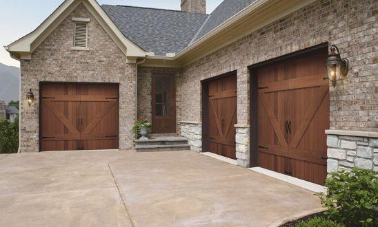 wood garage door : Design Inspiration, Decor, Dreams Houses, Exterior, Future, Houses Ideas, Floors Design, Clopay Garage, Wood Garage Doors