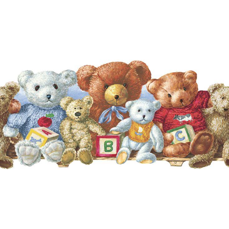 Eddie Bauer Teddy Bear Wall Border - babyearth.com