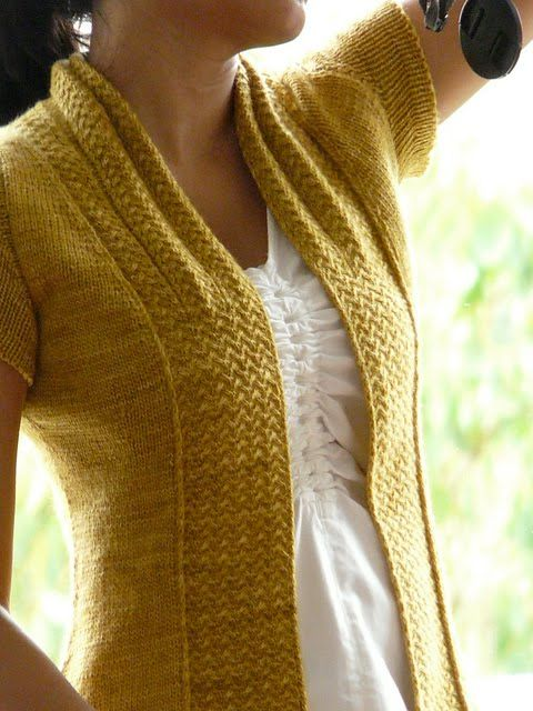 Knitted Bliss: Modification Monday: Shifting Sands Cardi