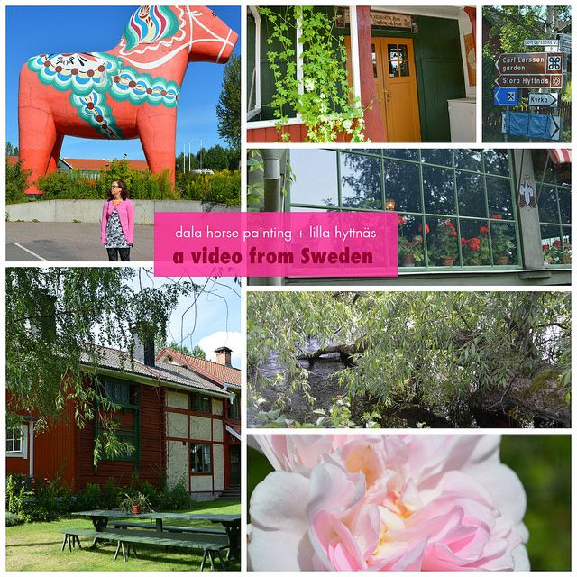 Come along on a road trip to the Swedish area Dalarna for some touristing in our own country. Dala horse painting, a visit to Carl Larsson's house Lilla hyttnäs and Swedish summer time #sweden #dalarna #dalahorse #travel