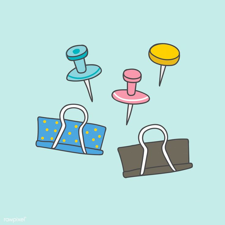Colorful paperclips hand drawn doodle style vector   free image by rawpixel.com …