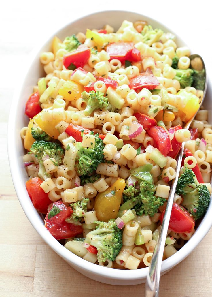 Frozen vegetable pasta salad recipe
