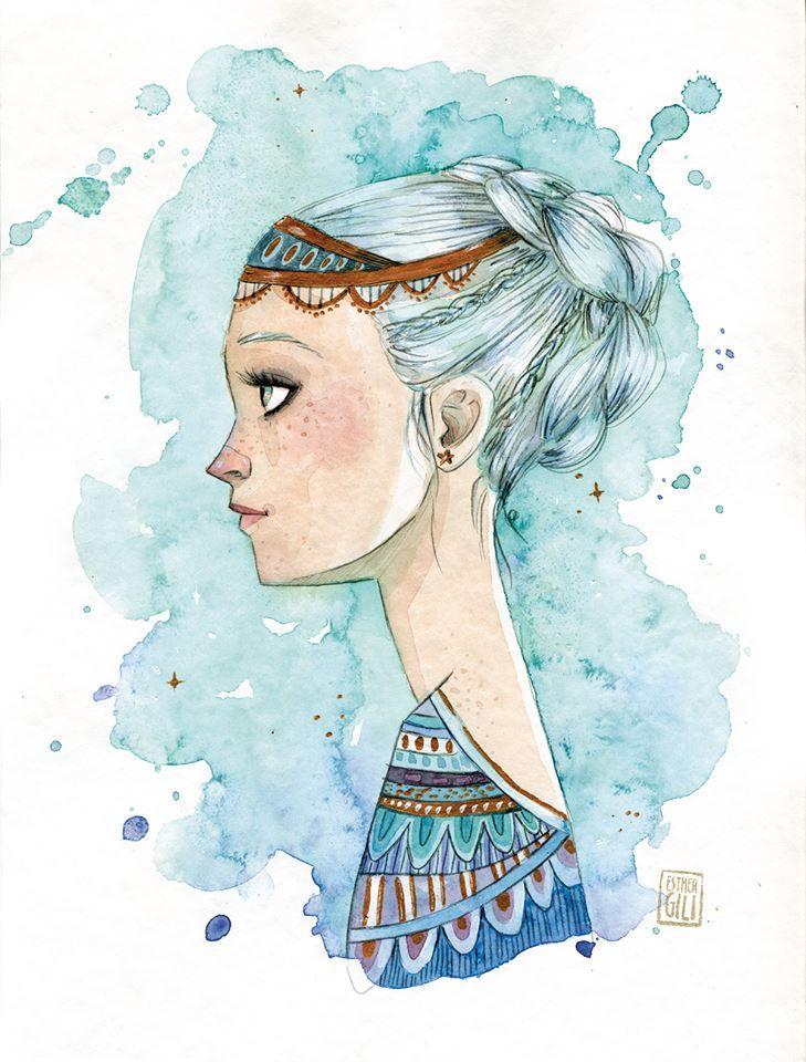 Esther Gili - EMPERATRIZ INFANTIL #Illustration #Art #Girl