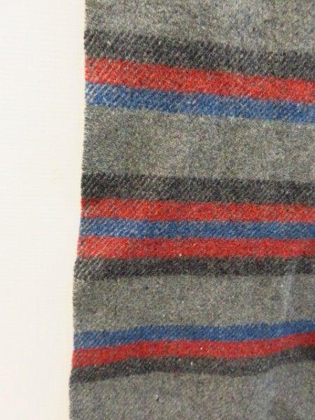 shopgoodwill.com - #41101005 - Pendleton Wool Blanket 58x75 Dark Grey w/Stripes - 7/8/2017 6:15:00 PM