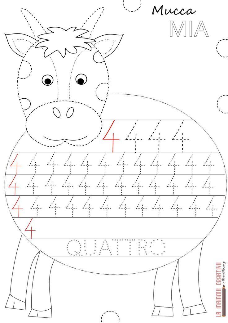 22 best zahlen schreiben images on Pinterest   Kindergarten ...