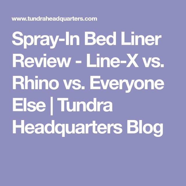 Spray-In Bed Liner Review - Line-X vs. Rhino vs. Everyone Else | Tundra Headquarters Blog