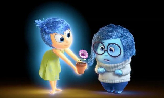 """Joy glows yellow, but if you look closely, she has a blue aura. This foreshadows her eventual acceptance of Sadness.   19 Super-Interesting Facts About Pixar's """"Inside Out"""""""