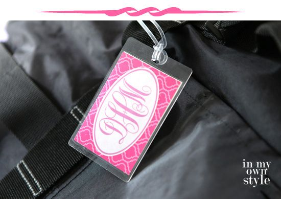 Trav'lin In Style: Monogrammed Luggage Tags