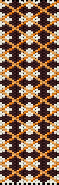 Bead Weaving pattern (Peyote stitch)