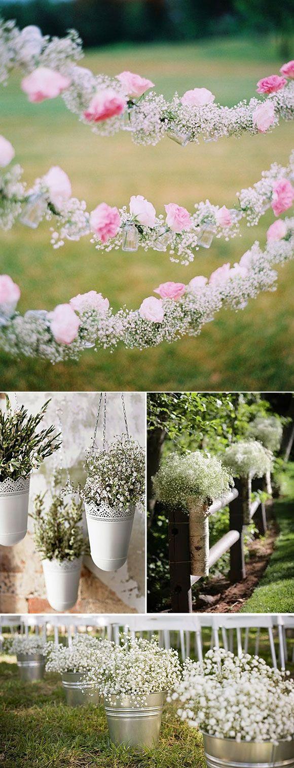 Ideas para decorar el pasillo en las bodas con paniculata