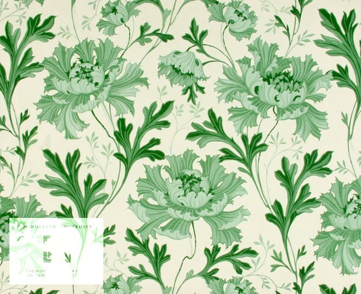 wallpaper sample by harry napper 1897 museum of domestic design architecture middlesex