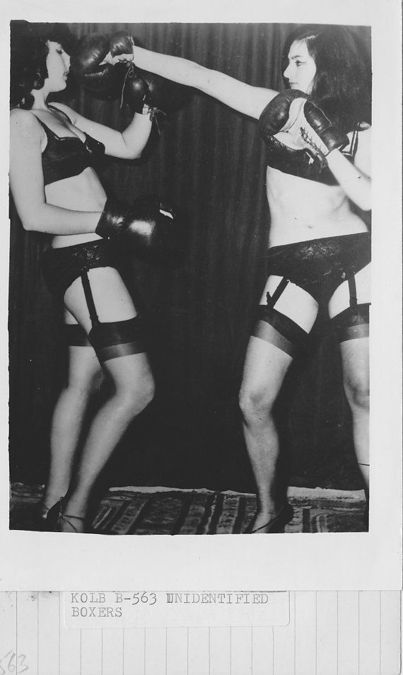 leather skirt catfight