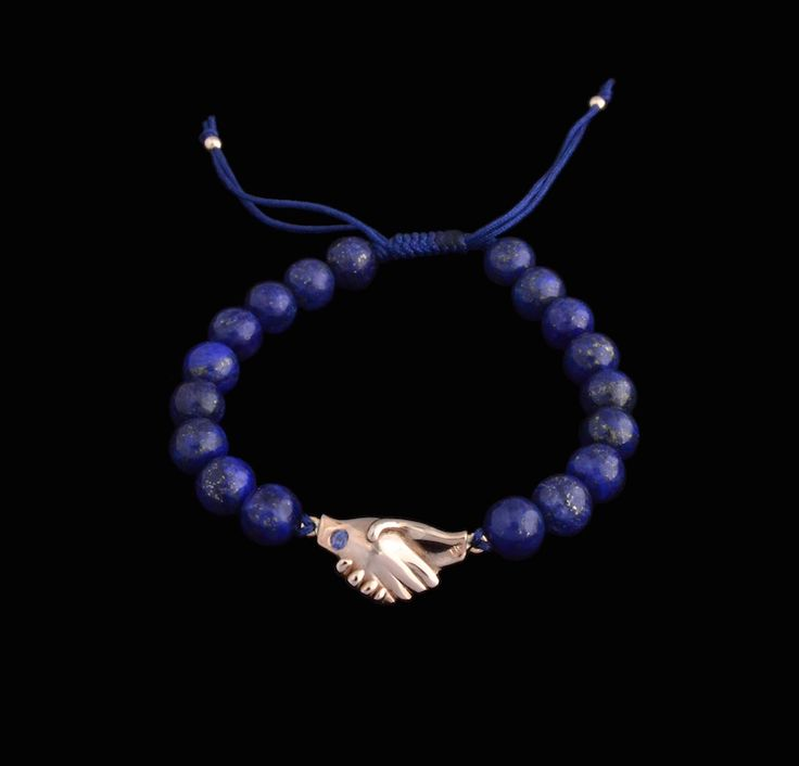 #rose #gold #lapislazuli #sapphire #bracelet