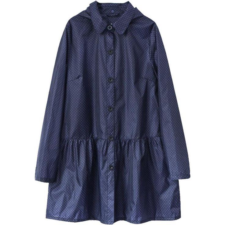 Rain  Coat Poncho Jackets waterproof Female Navy blue/Black/Red thin cloak long raincoat women chubasqueros Impermeables Mujer