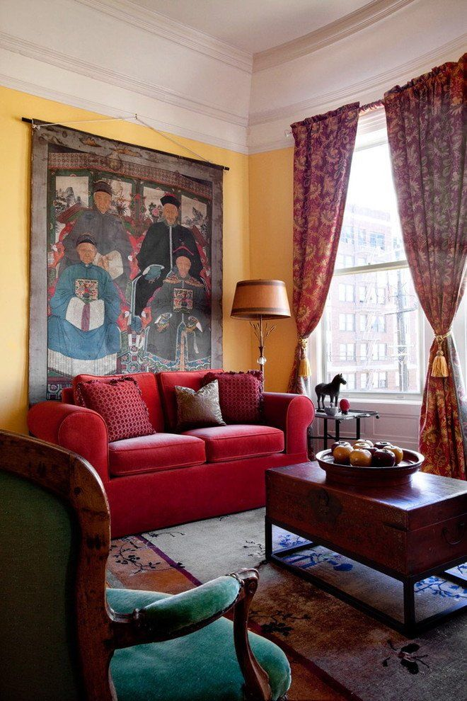 Red Couch Living Room Decor 20 Amazingly Eclectic Living Room Designs In 2020 Red Couch Living Room Red Sofa Decorating Eclectic Living Room Design #red #couch #living #room #design