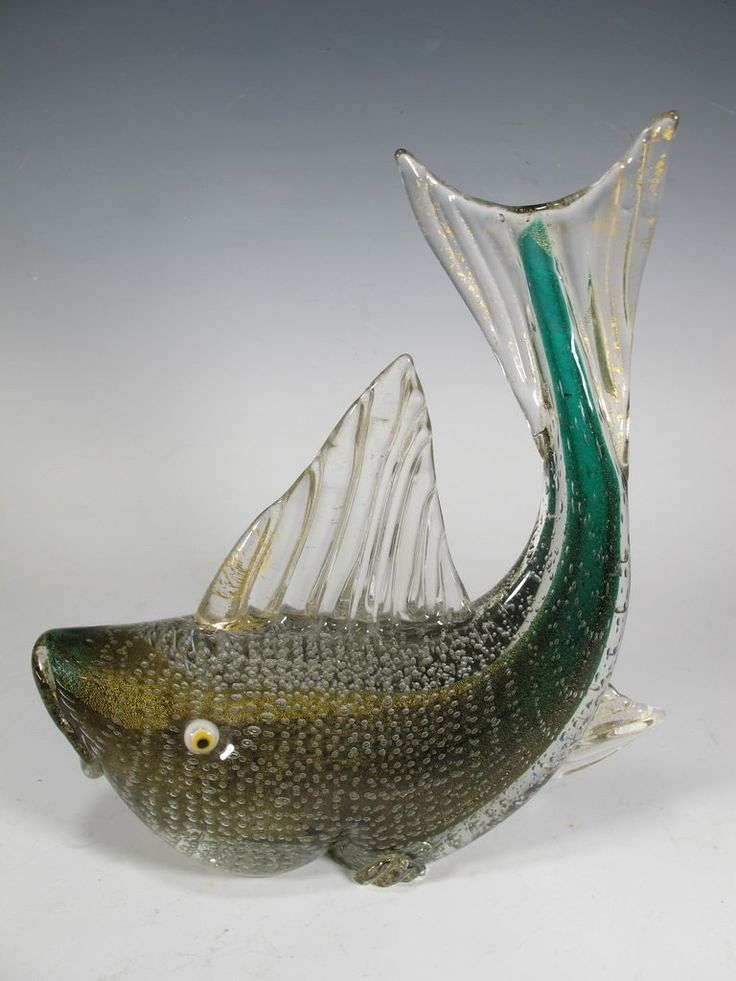 Lot: Italian fish  murano glass sculpture, Lot Number: 0147, Starting Bid: $100, Auctioneer: Antiques Supermarket, Auction: END OF THE YEAR AMAZING ANTIQUE AUCTION, Date: December 20th, 2016 UTC
