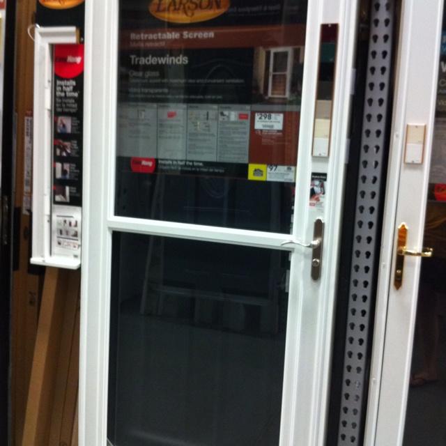 18 best images about storm doors on pinterest andersen for Retractable screen door lowes