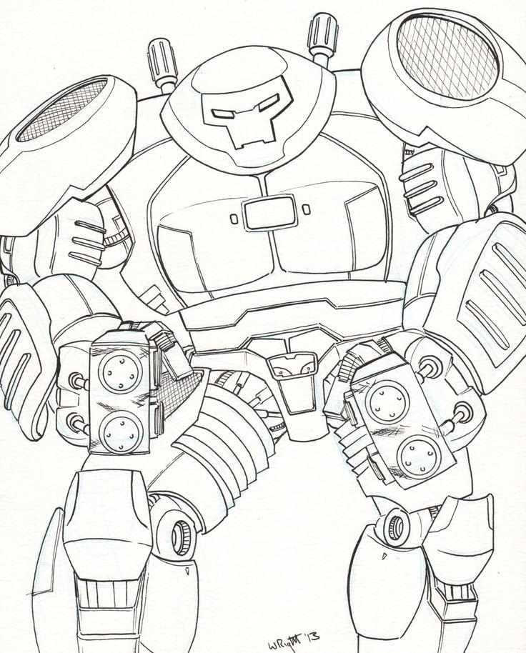 Iron Man Hulkbuster Vs Hulk Coloring Pages Sketch Coloring