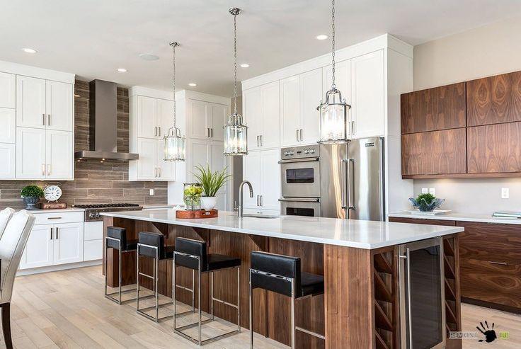 Большой кухонный остров #kitchen