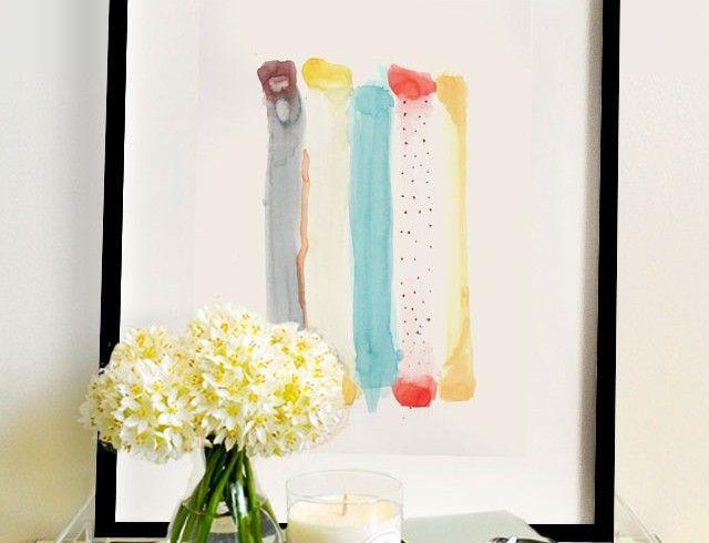 Acuarela Abstracta Fabric Rolls 22x32 - Elena Calonje, Arte e Ilustracion | Art and Illustration