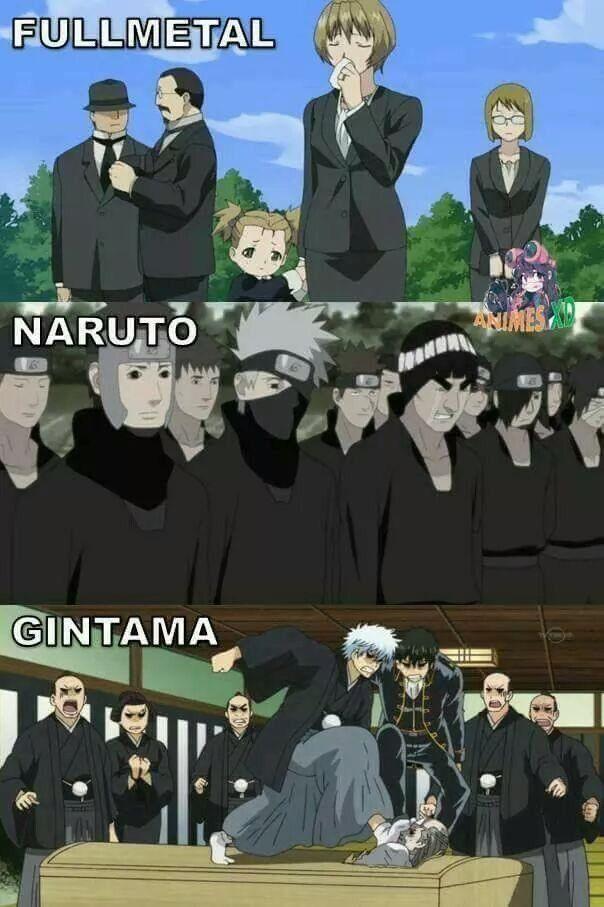 Funerales en el anime xD