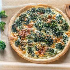 Tarte aux brocolis et roquefort