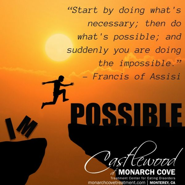 """Start by doing what's necessary; then do what's possible; and suddenly you are doing the impossible."" – Francis of Assisi"