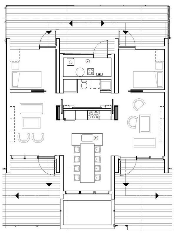 915 Sq. Ft. Small House for Roommates