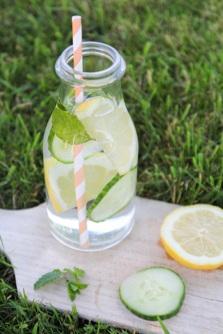 recette detox water concombre menthe citron