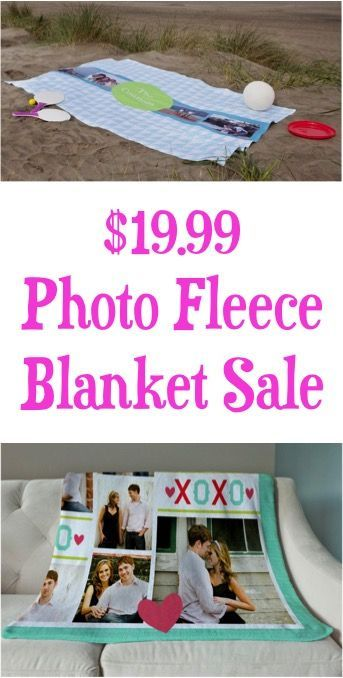 Personalized Photo Fleece Blanket!  Stash away a super-cute Christmas gift!!