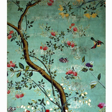 Detail of 18th-Century Chinese Wallpaper