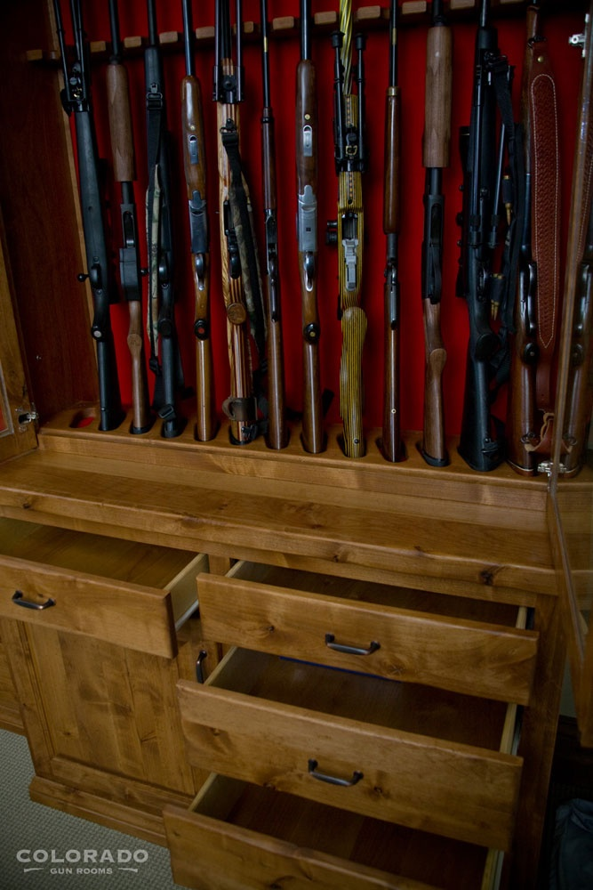 11 best built in gun cabinet for basement reno images on for Built in gun safe room