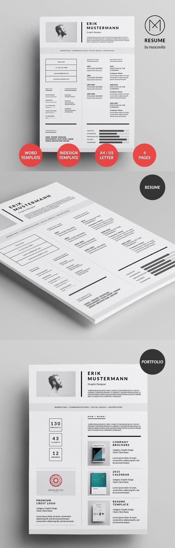 graphic designer resume 2015%0A Creative Modern  Resume  Design
