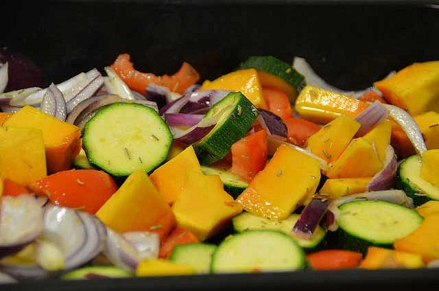 Roasted Squash With Vegetables