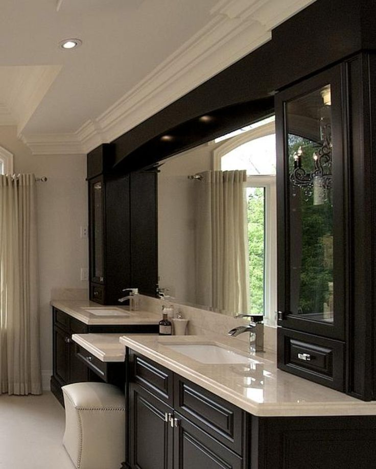 100 best bathroom ideas images on pinterest bathroom for Master bathroom cabinet designs
