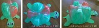 Schildpad van lege fles knutselen