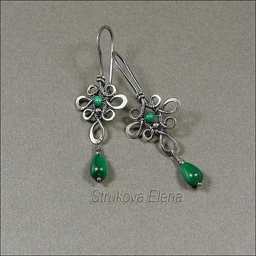 Earrings - Strukova Elena - copyrights decorations