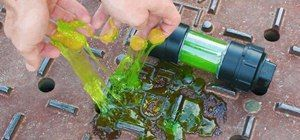 DIY Ninja Turtle Ooze! Make Your Own Radioactive Canister of Glowing Green Slime at Home « Science Experiments