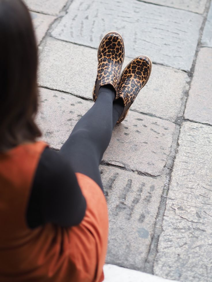 A Nod To Autumnal Dressing: Dress - Red Herring at Debenhams, top & neck scarf - Primark, Boots - Ted & Muffy
