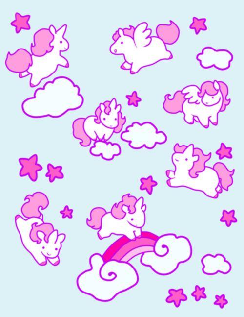 Kawaii unicorns / Unicornios Kawaii