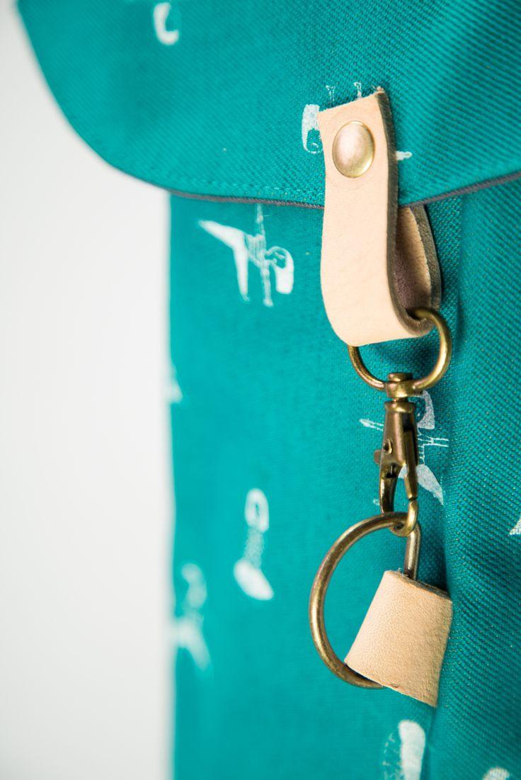 a turquoise yoga mat bag + screen printed pattern