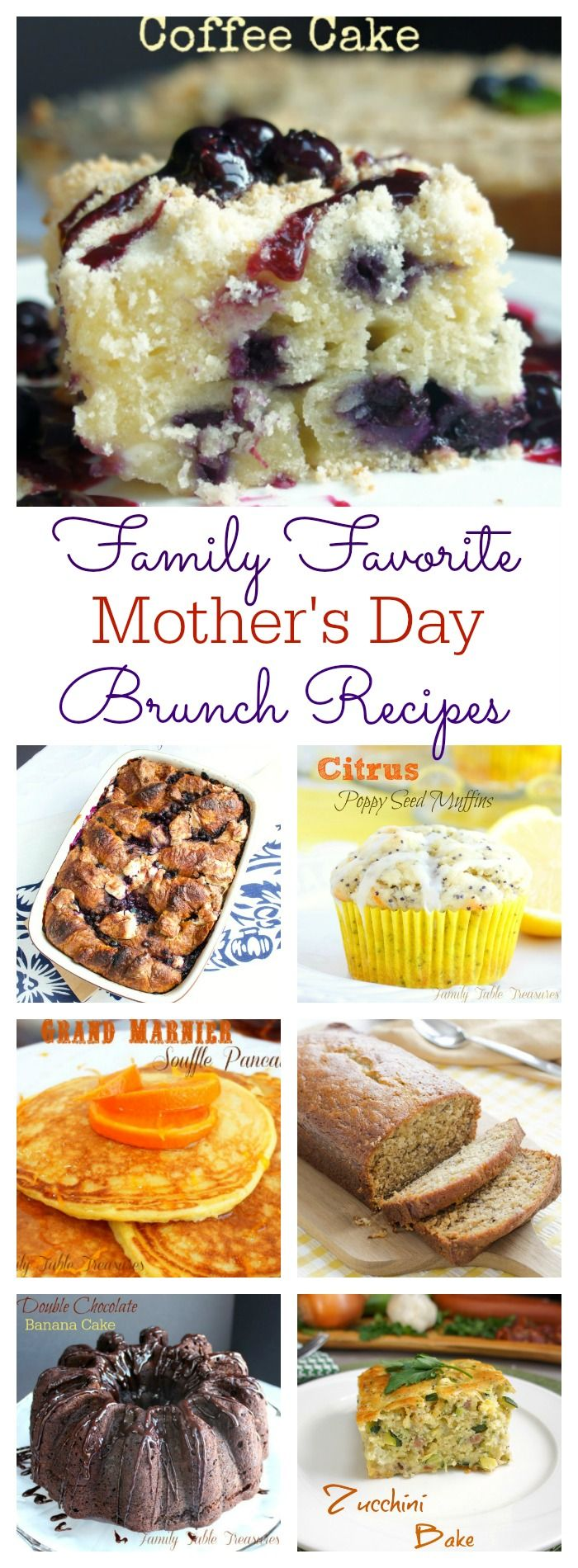 Whether you make her breakfast in bed or a full blow Mother's Day Brunch spread here are our Family Favorite Mother's Day Brunch Recipes to give you a hand!