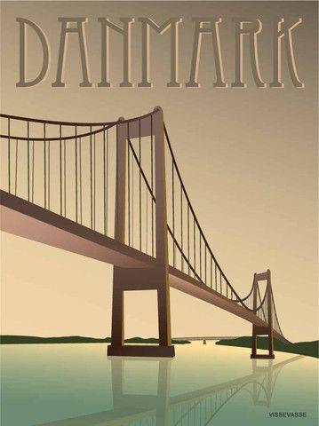 ViSSEVASSE Danmark plakat - Lillebæltsbroen - køb her!